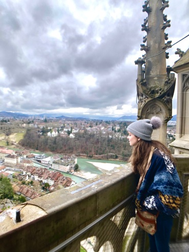 Overlooking Bern from the Cathedral tower.