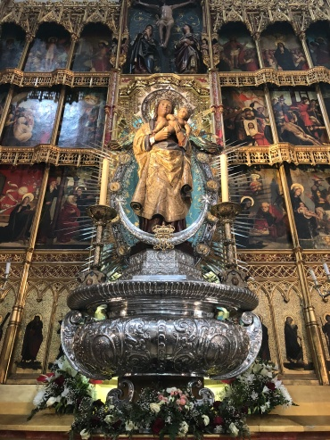 The Virgin Mary at Catedral de la Almudena, Madrid.